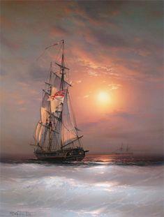 Marine painter Anton Sukhorukov
