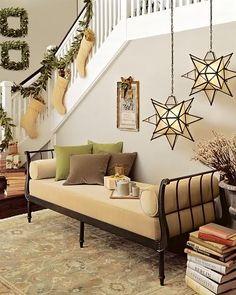 Moravian Star Pendants at Christmas