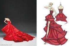 Çizimlerden Elbiselere Ünlü Modacılar-II / From Sketch to Dress Fashion Designers-II