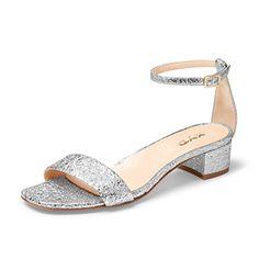 4c69f7775 XYD Women Low Block Heel Sandals Solid Ankle Strap Dress .