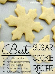 Best Sugar Cookie Recipe. I made these and they hold their shape well and release easily from the cookie sheet without breaking.