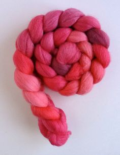 BFL/ Silk Roving  Hand Painted Spinning or by threewatersfarm, $19.50