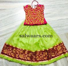 Light Pista Green Net Lehenga - Indian Dresses