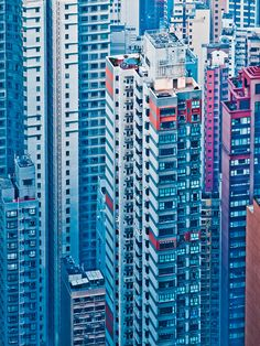 Hong Kong facades  By Miemo