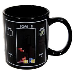 For old-school retro gamers, this heat-sensitive cup will warm your Tetris-playing hearts. Wait for the long straight piece!