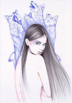 Moondance Art Print by Andrea Hrnjak   Society6