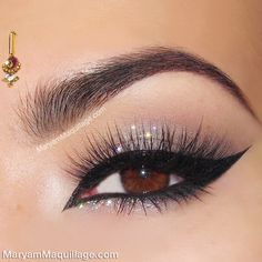 Sparkly eye makeup