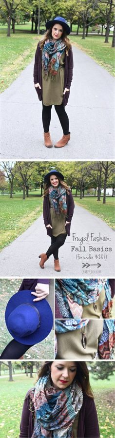 #Fashion can be affordable! Everything I'm wearing cost under $20 - even my favorite wool hat from Urban Outfitters! Get frugal fashion tips at CraftyCoin.com. #lifestyle #frugal #bargain #shopping
