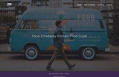 Food truck website template for awaking customers appetite Custom Food Trucks, Website Template, Templates, Business, Models, Stenciling, Stencils