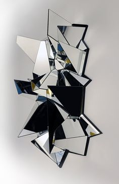 mirrored sculpture mathias kiss art illustration