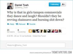 Daniel Tosh -- sounds about right.