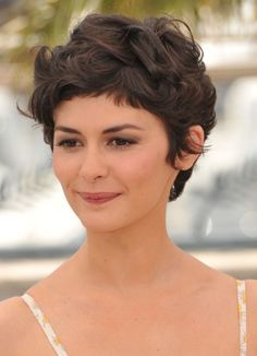 Short Curly Pixie most convenient thick hairstyles for women0101