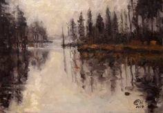 Herbstnebel Nr.III Saatchi Art, Original Paintings, Landscapes, The Originals, Mists, Paisajes, Scenery