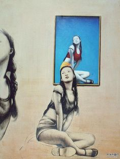 Zhong Baiao chinese art woman