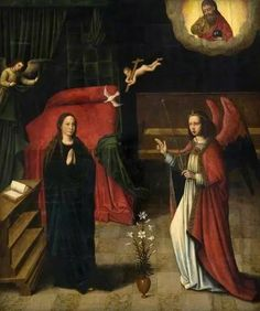 The Annunciation,  Marcellus Coffermans (1520/1530–c.1578) Date painted c.1549–1578. Glasgow Museums