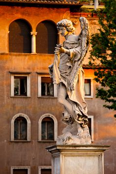 Angel Statue on Ponte Sant Angelo, Rome Italy