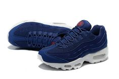 3553f36bee Nike Air Max 95 Stussy X 25 Anniversary Midnight Navy White 834668 441  Discount Sneaker Air