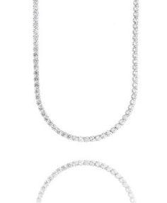 colar riviera longo semi joias luxo zirconias brancas