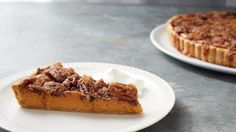 """Part pumpkin pie, part pecan pie, this recipe from Thomas Joseph combines the best of both and is the perfect holiday dessert. Martha made this recipe on """"Martha Bakes"""" episode 403."""