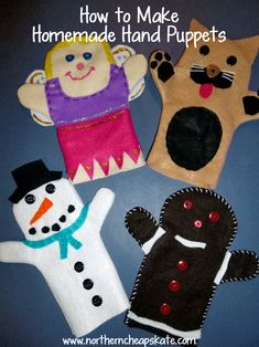 How to Make Handmade Hand Puppets with a Free Printable Pattern