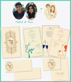 Distinct wedding invitation for indian wedding