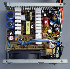 A typical ATX PSU interior. Alan Liefting (Own work) [Public domain], via Wikimedia Commons.