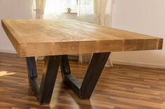 Esstische - Eiche Massiv Tischplatte 80mm Dick diverse Größen - ein Designerstück von Radewiger-Holzdesign bei DaWanda