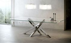 Design rectangular crystal dining table SHANGAI SHANGAI Collection by RIFLESSI | design RIFLESSI