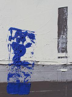 Blue Glass  Original Abstract Handmade Oil by ARcoTexturePaintings