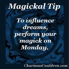 Magickal Tip - Dream Magick Monday – Charissa's Cauldron