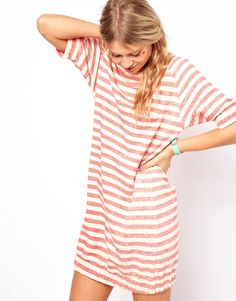 Love the Low raglan on this striped sweatshirt dress | Asos
