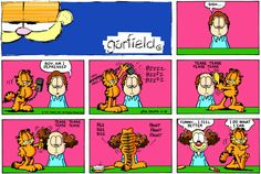 Garfield missed his calling.  Bozo could use a new stylist.