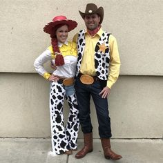 Create your own Toy Story Woody Costume for Halloween Jessie Halloween Costume, Woody And Jessie Costumes, Easy Couple Halloween Costumes, Woody Costume, Looks Halloween, Hallowen Costume, Halloween Outfits, Referee Costume, Toy Story Alien Kostüm
