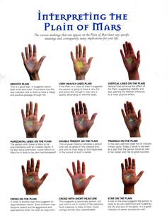 Divination: #Palmistry ~ Interpreting the Plain of Mars. - Pinned by The Mystic's Emporium
