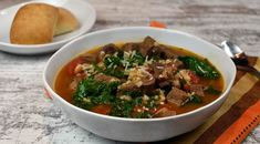 Tuscan Beef Soup made with Certified Angus Beef from Acme Fresh Market Giveaway