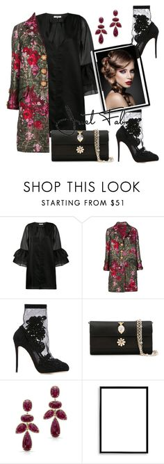 """Untitled #898"" by pesanjsp ❤ liked on Polyvore featuring Ganni, Dolce&Gabbana, Anne Sisteron and Bomedo"