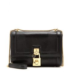 Dolce & Gabbana - Embossed leather shoulder bag - The compact, mini style is rendered in snakeskin-look embossed leather and finished off with gold-tone hardware accents and a subtle floral detail. Wear short on one shoulder or adjust the strap for cross-body styling. - @ www.mytheresa.com