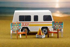 July is the perfect time for summer vacation road trips and expeditions. Even if you don't have the opportunity to make an excursion, you can keep the spirit alive with this free paper calendar!
