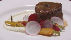 Fillet of Beef with Parsnip and Macadamia Puree and Seasonal Vegetables