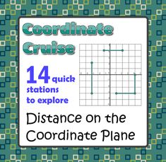Coordinate Cruise - Distance on the Coordinate Plane - Active Math from Mathematic Fanatic on TeachersNotebook.com -  (10 pages)  - Just cut out these 14 coordinate grid and geometric figures problems, and post them around the perimeter of your classroom. Place one or two students at each station.
