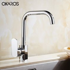 56.34$  Watch more here - http://aixws.worlditems.win/all/product.php?id=32782097197 -  Contemporary Kitchen Faucet Water Tap Chrome Finish Solid Brass Single Handle Hot And Cold Water Tap Mixer Torneira