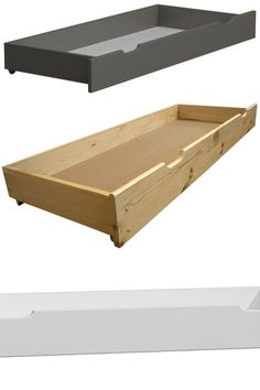 🛏 If there's a lot of unused space under your bed you can use it for storage. We offer solid wood drawers, available in a few colour and 3 size variants. You can match it to your bed colour and size ℹ  #storage #drawer #bedroom #furniture