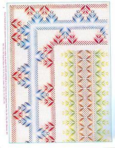 Bordado yugoslavo | Aprender manualidades es facilisimo.com Swedish Embroidery, Types Of Embroidery, Diy Embroidery, Cross Stitch Embroidery, Embroidery Patterns, Needlepoint Stitches, Needlework, Huck Towels, Swedish Weaving Patterns