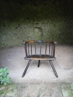 century Welsh Stick Chair With Heavy Traces Of Original Paint