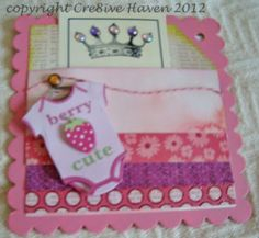 Berry cute baby girl mini album page