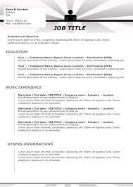 Microsoft Office Resume