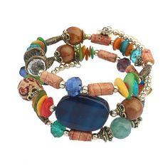 Aaishwarya Multicolor Wrap Around Beaded Bracelet #bracelet #beadedbracelet #wraparoundbracelet #multicolorbracelet
