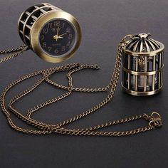 birdcage pocketwatch necklace