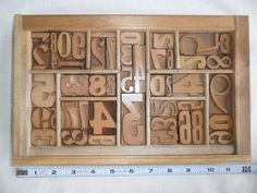 Letterpress Un-Inked Wood Type Graphic Design All Numbers American Type Co. N.Y.