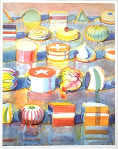 View Colorful Cakes by Wayne Thiebaud on artnet. Browse upcoming and past auction lots by Wayne Thiebaud. Art Sub Lessons, Painting Lessons, Wayne Thiebaud, Juan Sanchez Cotan, Art Sub Plans, 4th Grade Art, Art Lessons Elementary, Art Classroom, Teaching Art
